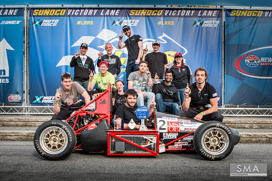 Vitorious Formula Hybrid Team members after their victory in New Hampshire.