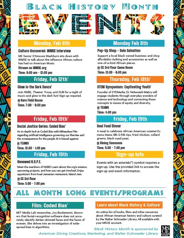 MSOE Black History Month Events